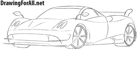 pagani drawing how to draw pagani huayra drawingforall net