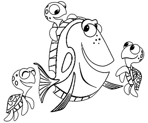 Disney Coloring Pages Finding Nemo by Finding Nemo Coloring Pages Coloringsuite