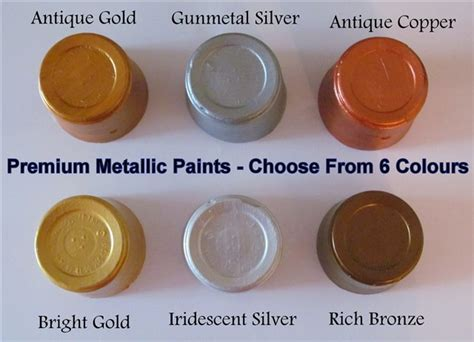 craftmill metallic acrylic artist paints for card wood mdf papier mache craft ebay