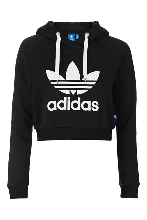 White Panda Jumper Set 2in1 cropped hoodie by adidas originals topshop usa