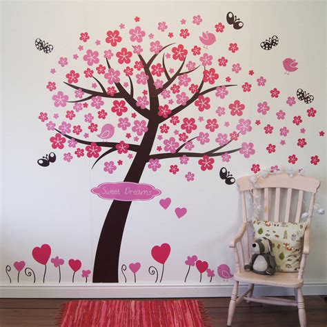 blossom tree wall sticker princess blossom tree wall stickers by parkins interiors