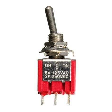 Switch Geser Mini 3 Pin 9pin 3pdt on on mini toggle switch 6a 125vac 2a 250vac electric guitar circuit selector