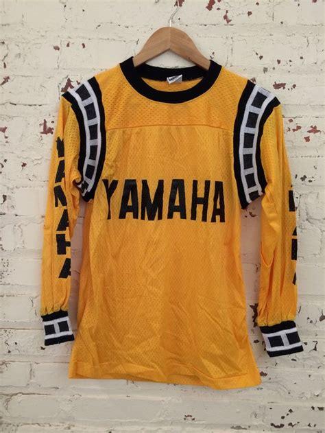 vintage motocross jerseys vintage yamaha motorcross jersey size small by