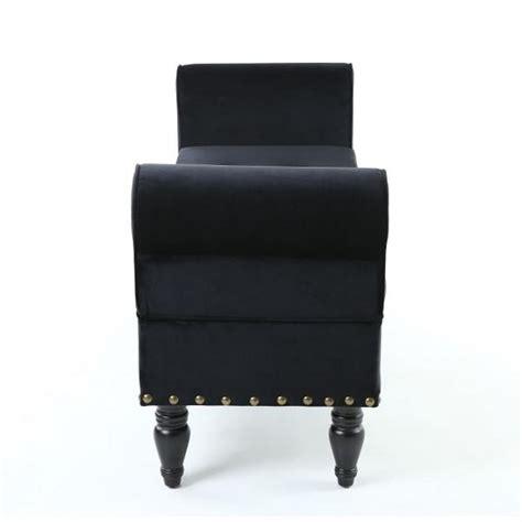 black storage chaise royce ottoman storage chaise in black velvet with wooden