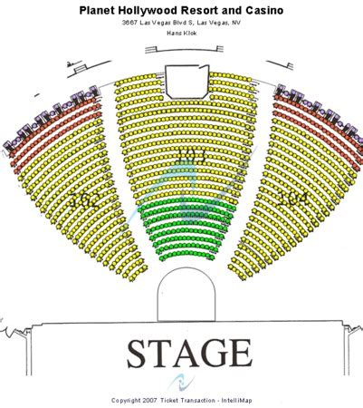 axis las vegas seating chart the axis at planet powered by tickets in