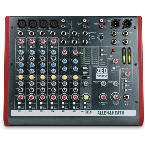 Mixer Allen Heath Zed 10fx allen heath zed 10fx 4 channel usb mixing desk dv247