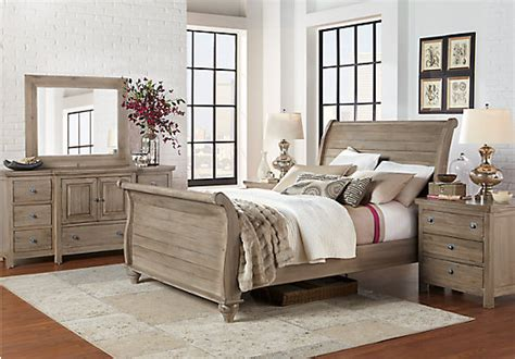 bedroom furniture rooms to go summer grove gray 5 pc king bedroom bedroom sets colors