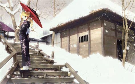 winter anime wallpaper hd winter anime wallpapers wallpaper cave