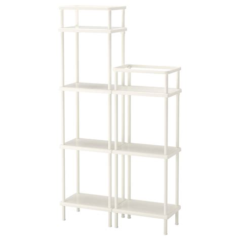 White Bathroom Shelf Unit by Dynan Shelf Unit White 80x27x108 148 Cm