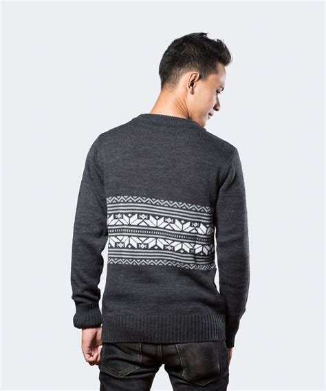 Sweater Rajut Berwarna Abu Abu black foot fashion s and s apparel