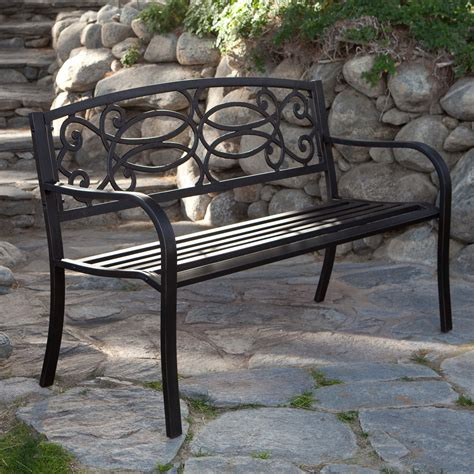 black metal bench outdoor garden benches outdoor wooden and stoned benches messagenote