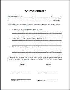 Official Contract Letter Format Formal Sales Agreement Contract Template Free Formal Word Templates