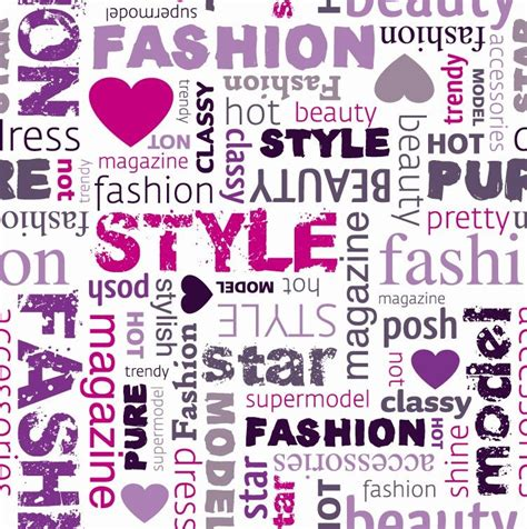 Design Fashion Word | fashion word collage vector illustration free vector