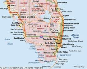 south florida map showing cities maps of southern florida another leading source of