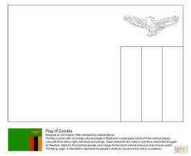 Zambia Flag Coloring Page flag of zambia coloring page free printable coloring pages