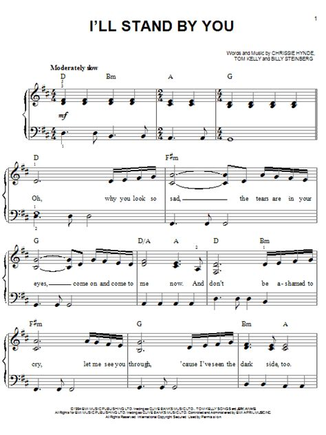 country music lyrics i will stand by you i ll stand by you sheet music direct