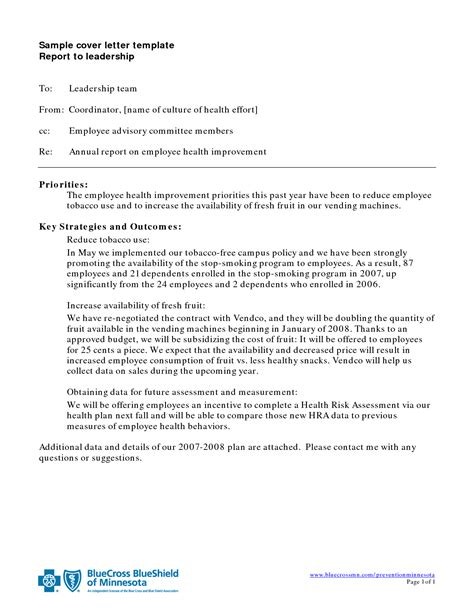 Report Cover Letter Best Photos Of Exle Of Letter Report Report Cover Letter Sle Letter Report Format
