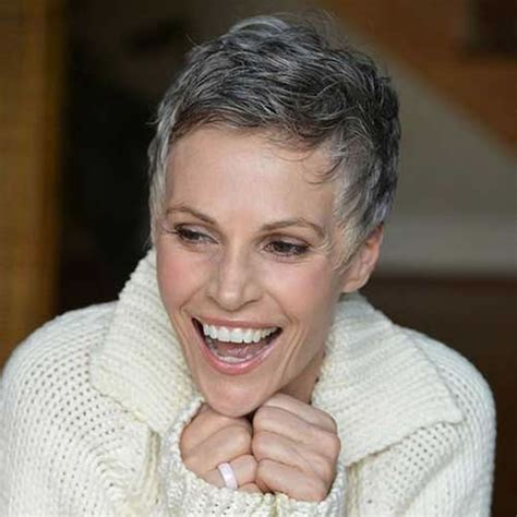 extremely short hair cuts for women with gray hair over 50 years old very stylish short haircuts for older women over 50