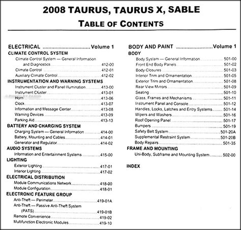 car repair manuals online pdf 2008 ford taurus navigation system 28 2008 ford taurus sel repair manuals 2008 ford taurus taurus x sable wiring diagrams