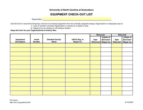 best photos of employee equipment check out form
