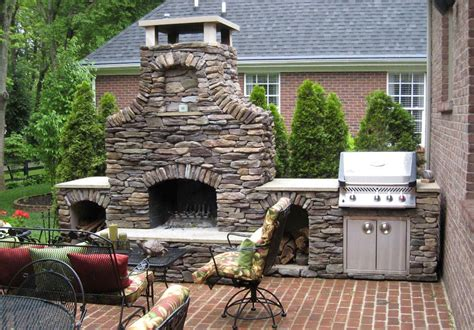 faux brick outdoor fireplace   The Great Combination for