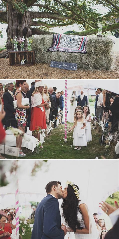 Wildflower Arrangements by A Festival Inspired Bohemian Wedding With Wildflowers And