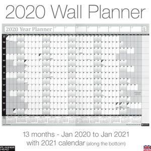 year planner wall chart   calendar  size greyfree desk calender ebay