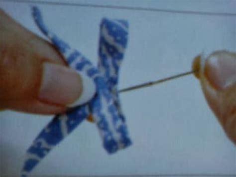 Anting Mawar Atom Anting Kain Kecil membuat anting pita dari kain batik tutorial kesekolah