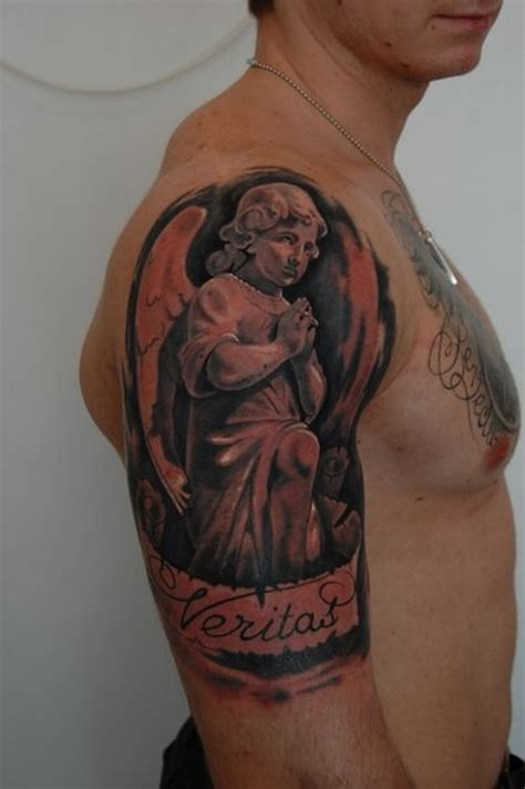 angel half sleeve tattoo 26 praying tattoos on half sleeve