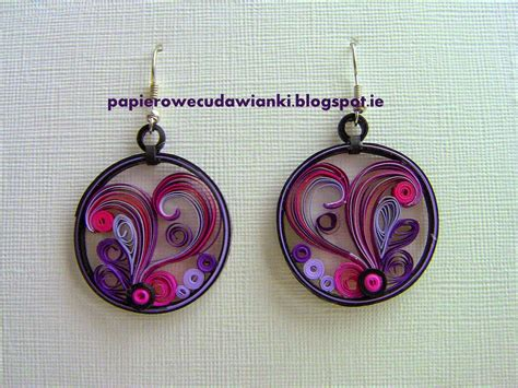 Paper Earrings - jewelry quilled on paper earrings quilling