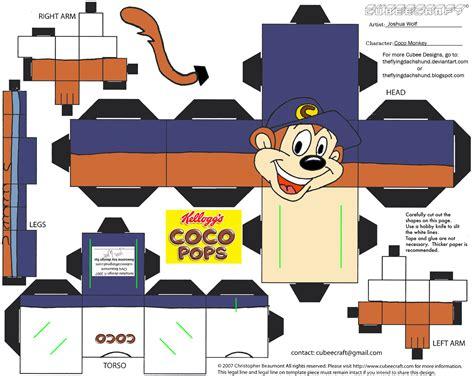 Monkey Papercraft - adv ch10 coco monkey cubee by theflyingdachshund on