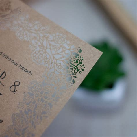 cheap laser cut wedding invitations cheap blosssom laser cut wedding invitations efws003 as low as 1 35