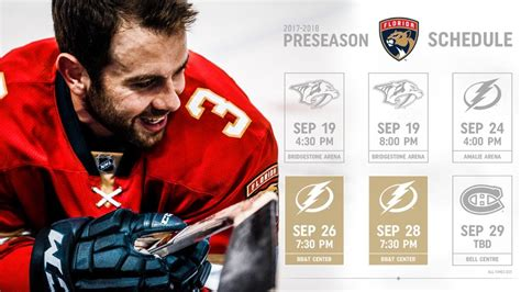 florida panthers announce 2017 preseason schedule nhl