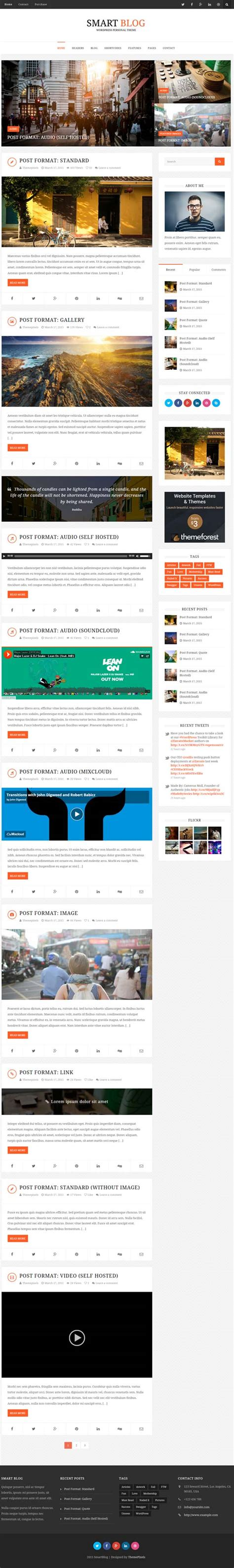 blog theme smartblog best 20 responsive html5 wordpress themes in the market