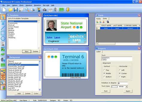 how to design id card in publisher advanced id creator professional shareware version 10 5