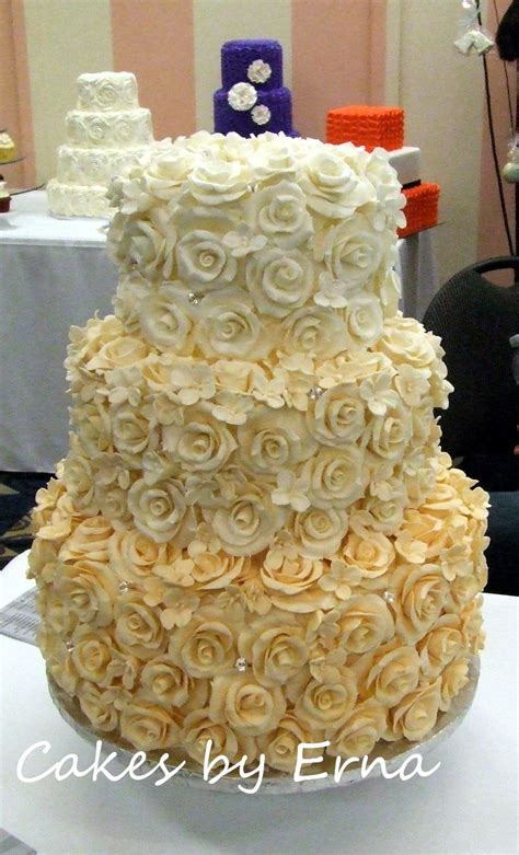 Wedding Cakes Roses by Cake The Wedding Cake Cakesbyerna