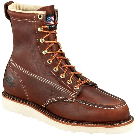 sears thorogood s american heritage 814 4201 brown 8 quot work boots narrow and wide width avail