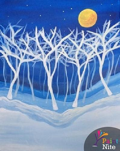 paint nite island events paint nite trees in winter