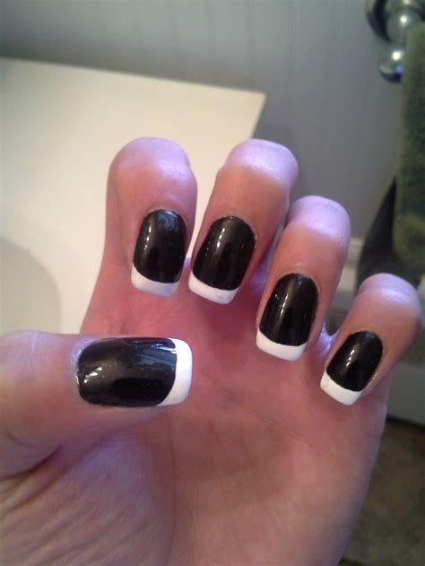 L For Gel Nails by Black And Tip Gel Nails Nails L By