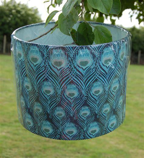 Handmade Fabric Lshades - liberty caesar print peacock lshade peacock print