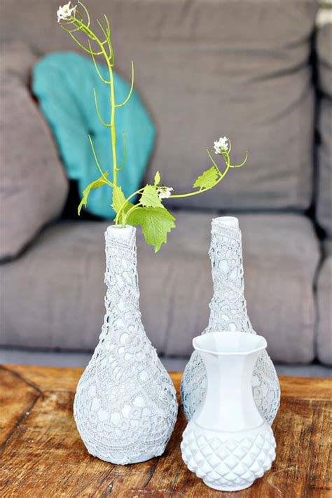 DIY Reclaimed Fabric Vases   DIY and Crafts