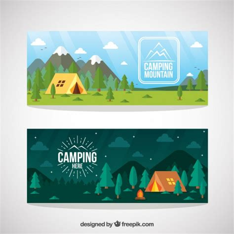 design banner landscape cing vectors photos and psd files free download