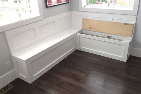 Kitchen Bench Seat With Storage A Place To Sit Which Booths And Integrated Kitchen Seating Are Best For Your Kitchen Bench