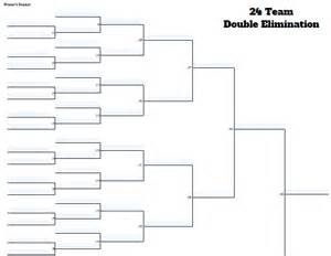 fillable 24 team double elimination editable tourney bracket