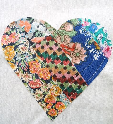 Patchwork Hearts - patchwork hearts modflowers