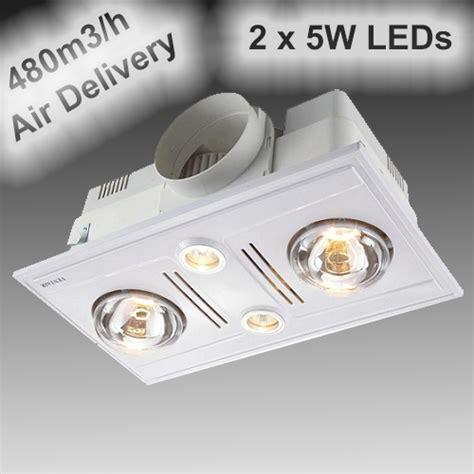 garrison lights ventair garrison z2hlw 2 light 3 in 1 heater exhaust