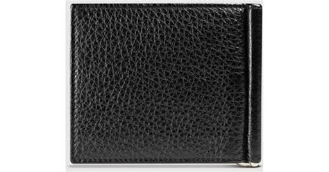 Soho Money Clip gucci soho leather money clip wallet in black for