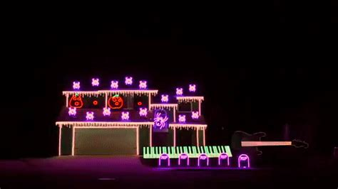 a spooktacular nightmare before christmas light show