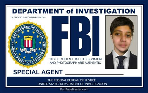 fbi id card template certificate of merit use fbi template put your in