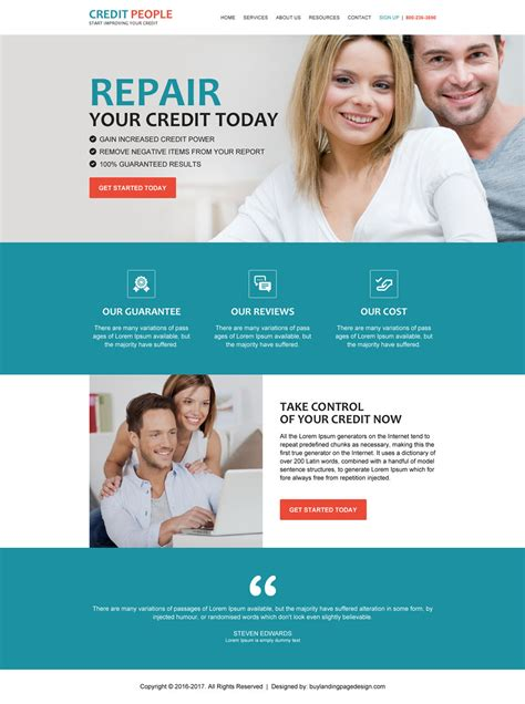 Credit Repair Brochure Templates Html Website Templates 20 Flat Special Discount Offer